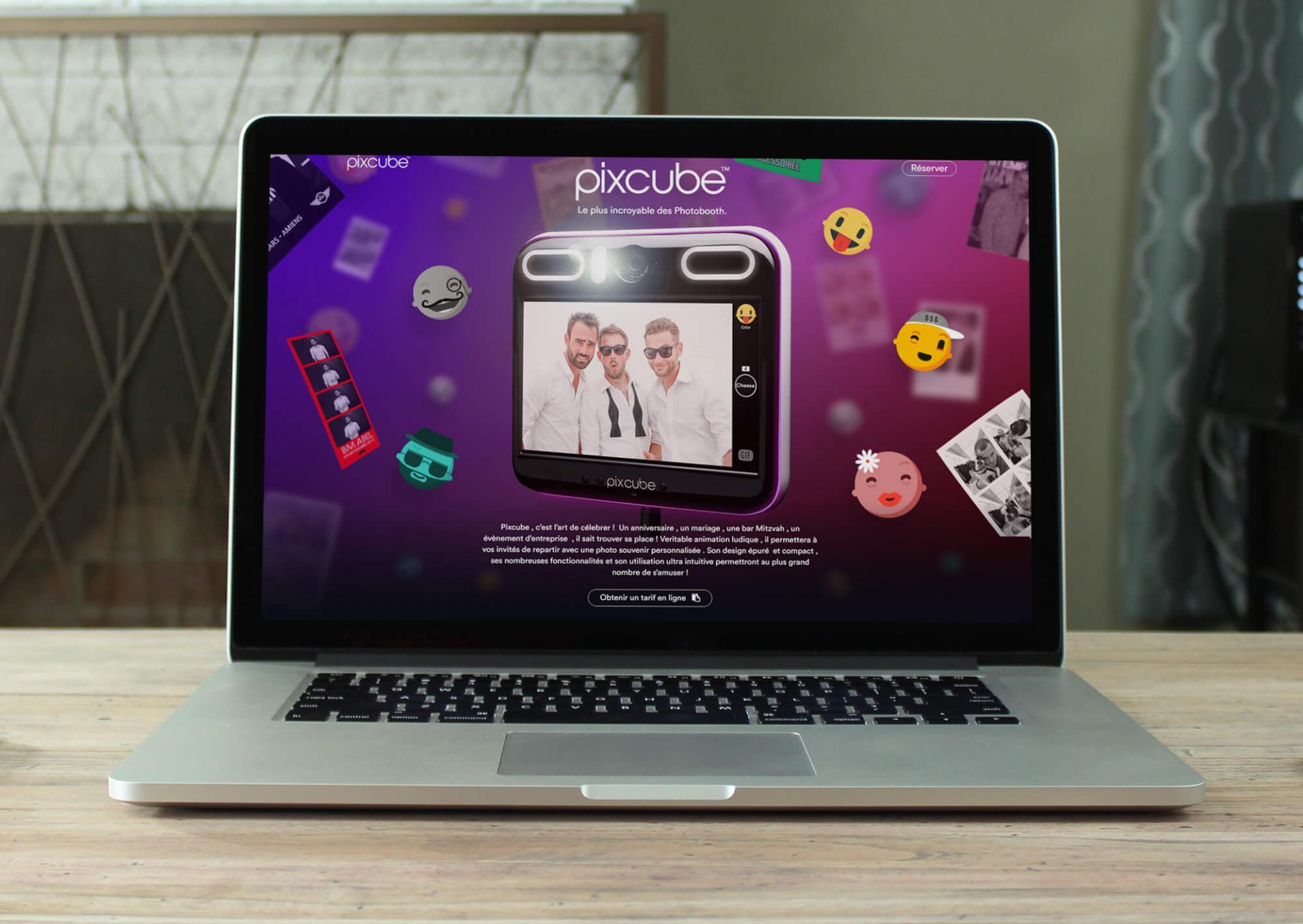 Visuels en format SVG sur le site de Pixcube